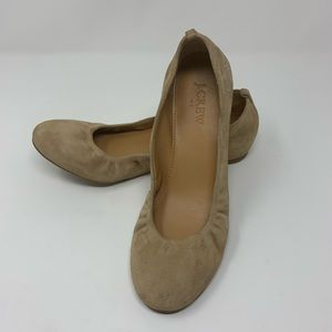 J.Crew Anya Suede Leather Ballet Flats